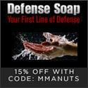 Defense Soap coupon code | 15% off | code mmanuts